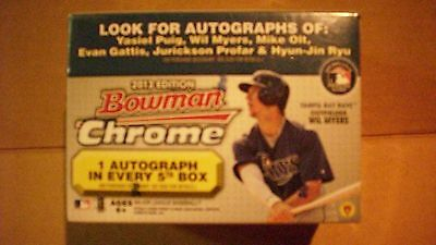 2013 CHROME FACTORY SEALED BOWMAN 8 PACK BOX LOOK for AUTOGRAPHS*PUIG-MYERS*
