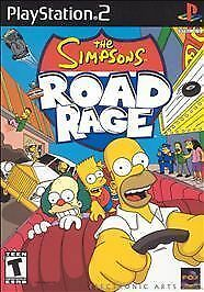 The simpsons Road Rage *RaRe** (PS2) Playstation 2 game Red label