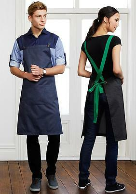 5 PACK Urban Bib Apron Crossover Back With Pocket Kitchen Cooking Bar Chef