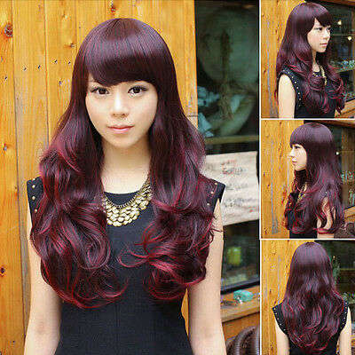 Women's Full Wigs Curly Wavy Long Hair Anime Cosplay Party Fashion Style