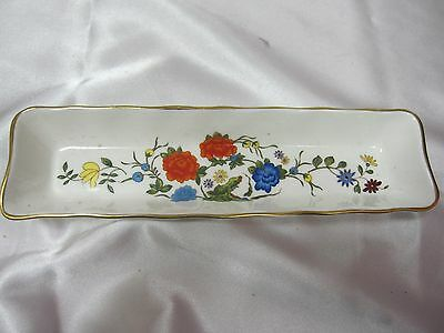 AYNSLEY ENGLAND PIN TRINKET DISH BONE CHINA FAMILY ROSES REPRODUCTION 17 CENT