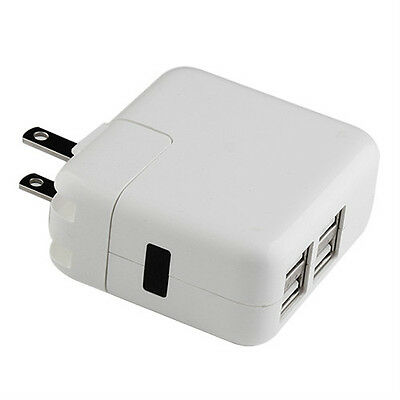 12W 4 Port USB Wall Charger AC Power Adapter Plug For Apple iPad iPhone iPod US