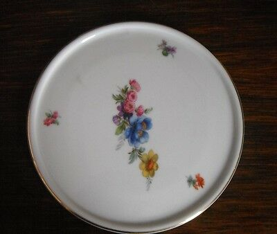 Beautiful flower Furstenberg large coaster hot pot teapot dish made in Germany