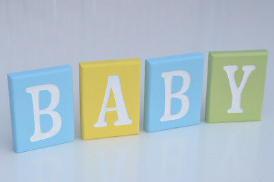 Wooden Signs Baby Blocks Nursery Decor Baby Boy Gifts Shower
