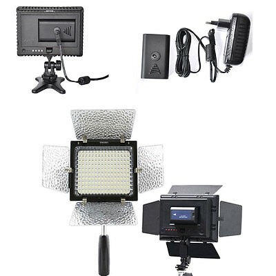 YN-160 LED Video Light + AC Adapter Power For Canon Rebel T3 T2i T1i XSi XTi New