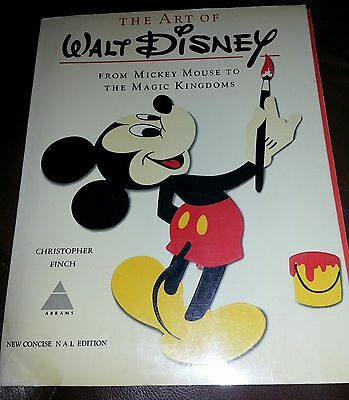THE ART OF WALT DISNEY : From Mickey Mouse to the Magic Kingdoms ~ 1975 PB FINCH