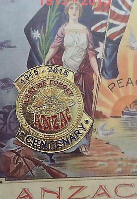 ANZAC Centenary 1915 - 2015 Lapel Pin * New 2015 * ANZAC Day