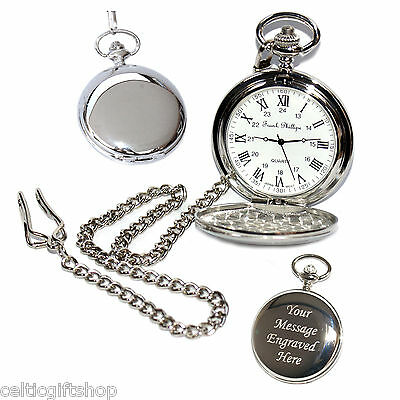 Quality Personalised Pocket Watch Gift for Bestman Usher Father Birthday Wedding