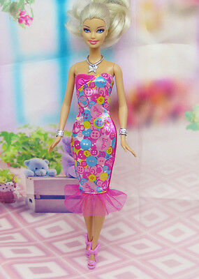 GORGEOUS Handmade The original clothes dress for barbies doll C334