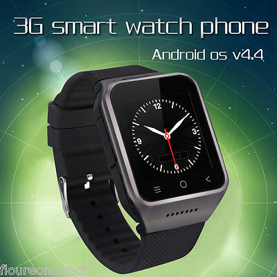 Smart Phone Watch Android4.4 MTK6572 DualCore 3G SIM slot WCDMA GSM GPS Wifi 2MP