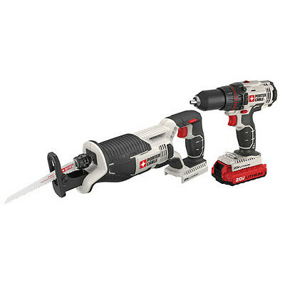 PORTER-CABLE 20V* MAX Cordless Lithium Drill and Recip Saw Combo Kit PCCK603L2