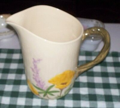 Franciscan Poppy Water Pitcher and 4 Tumblers Minty