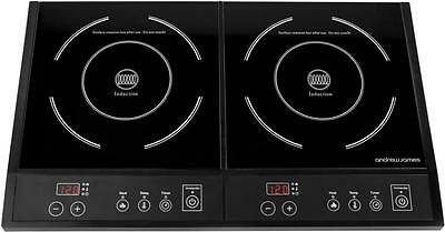 Brand New Andrew James Double Digital Twin Electric Induction Hob 2800 Watts