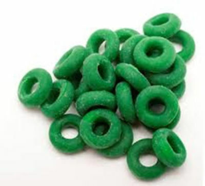Castrating Bands Elastrator Rings 100ct Green Donuts Calves Goats Sheep Lamb