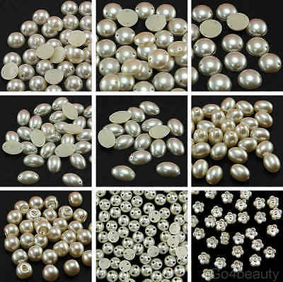 Selections of Sew On Ivory Colour Pearls - For Sewing Craft