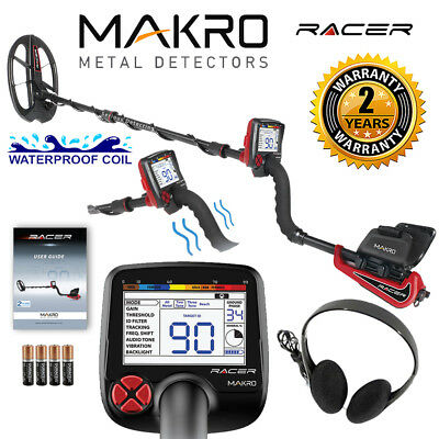 Makro Racer Metal Detector Standard Package w/ 11x7 Waterproof Coil & Headphones