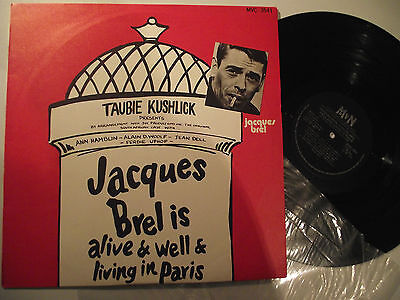 JACQUES BREL Is Alive And Well And Living In Paris( MVC 3541 VINYL LP)
