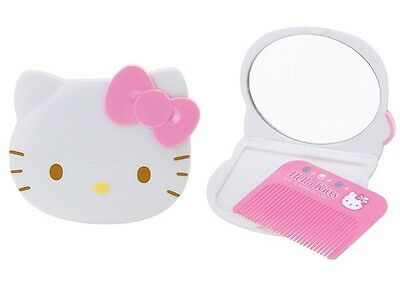 Sanrio Hello Kitty Diecut Compact Mirror & Comb Set~~New With Tag