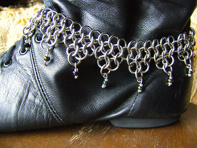 Game of Thrones Chainmail Anklet Silver Fantasy Steampunk Gypsy Game of Thrones