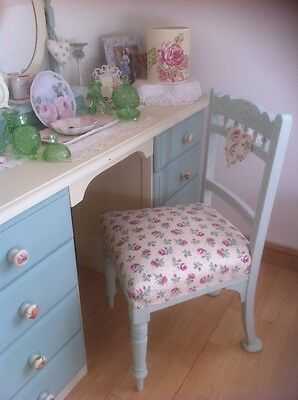 Vintage Chair & Laura Ashley Fabric & Heart