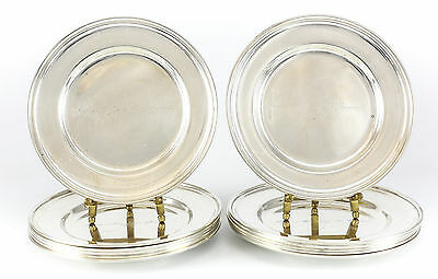 12pc Set Elgin Silversmith Co. Sterling Silver Dessert Plates, c.1940; 39toz