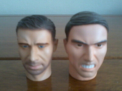 Two 1/6th Scale Dragon Models Head Sculpts - Heinrich Achtes and Hans Diehl