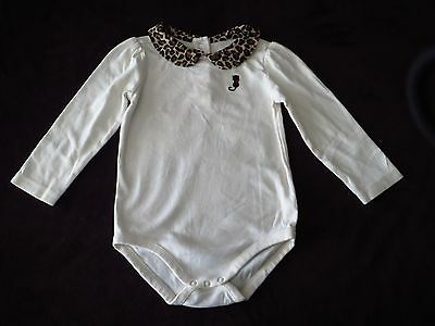 Gymboree Toddler Girl Adorable Leopard Collar One Piece with Kitty Size 2T CUTE!