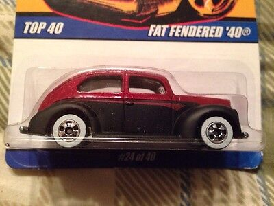Fat Fendered 40 HOT WHEELS 2007. 24 Of 40 White Walls Damaged Card