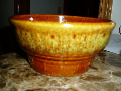 VINTAGE HAEGER BROWN SMALL SERVING BOWL WITH STICKER STILL INTACT