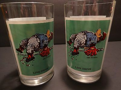 Vintage PEPSI Sport Collectors Series Line Drive Glasses 1979 Thought Factory