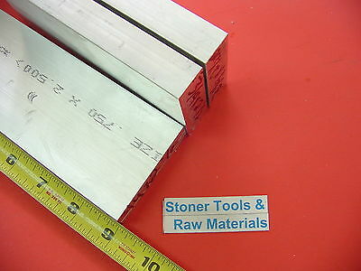 "3 Pieces 3/4"" X 2-1/2"" ALUMINUM 6061 FLAT BAR 9"" long T6511 .750"" Mill Stock"