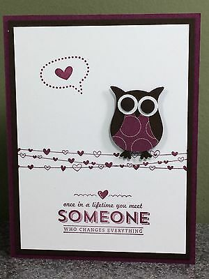 Stampin Up Card Love Romance Wedding Anniversary Owl