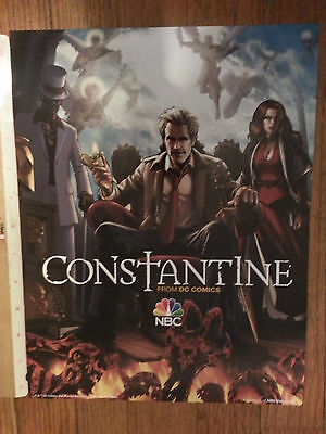 "NBC's Constantine From DC Comics Cardboard Promo 13"" x 10"" Poster"