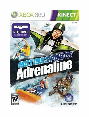 XBOX 360 KINECT MOTIONSPORTS ADRENALINE BRAND NEW VIDEO GAME factory sealed