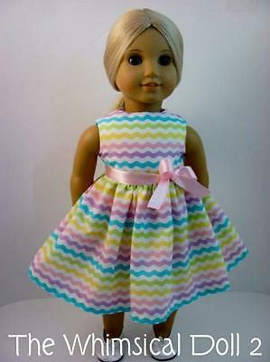 Doll Clothes, Chevron Dress fits American Girl Doll, The Whimsical Doll 2
