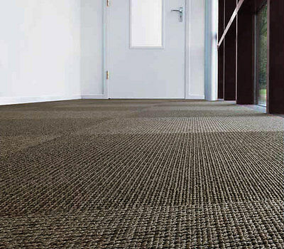 Clearance - Carpet Tiles, 50% Off, Brown With Grey Specks, $21.00 Per Sq M