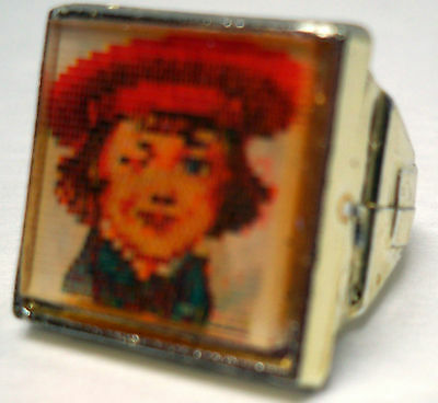VINTAGE BUSTER BROWN & TIGE SQUARE FLICKER RING - 50's - 60s EX. CONDITION