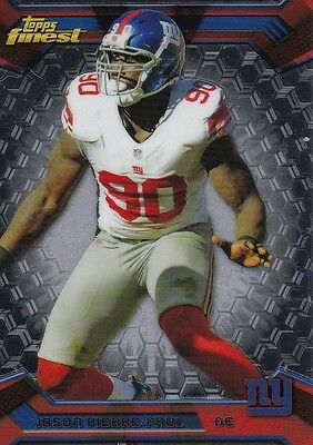 inv9581 jason pierre-paul 2013 finest card #86 new york giants   rare hot