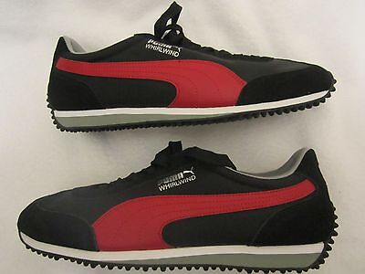 Puma Whirlwind  Classic  Men's Sneaker size 10.5 Black w/ Red NEW