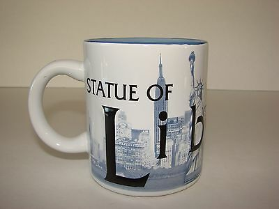 Statue Of Liberty Mug EMBOSSED 3D Letters Blue and black New York