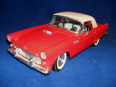 "Road Tough 1955 ""Red T-Bird"" with Hard Top Convertible 1:18 Scale Die-Cast Metal"