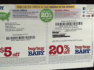 buy buy BABY Coupons $5.00 off and 20% off  May 11, 2015 Expiration  SAVE$$$$