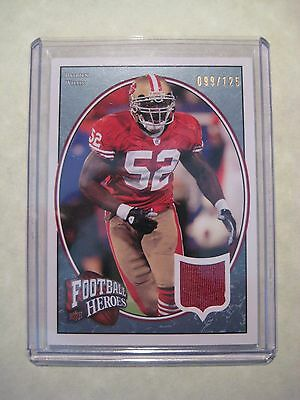 49ERS PATRICK WILLIS 2008 UD FOOTBALL HEROES JERSEY CARD #'d /125