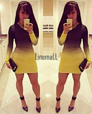 bc3375ce94c Women Bodycon Cocktail Party Club dress Bandage Sexy Jumpsuit Outfit Dress  SML