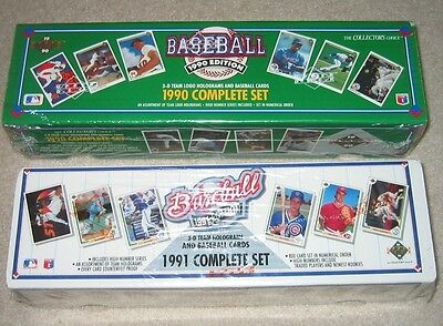 1990 & 1991 UPPER DECK BASEBALL FACTORY SETS BRAND NEW SEALED 800 CARDS EACH BOX