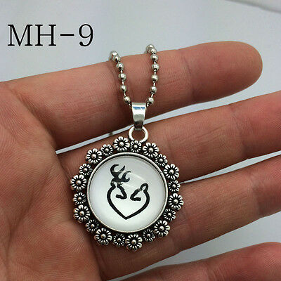 2015 NEW Browning Deer Necklace Photo Alloy Necklaces & Pendants  MH-09!
