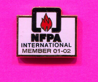 NFPA PIN NATIONAL FIRE AND PROTECTION ASSOCIATION  INTERNATIONAL MEMBER 2001-02