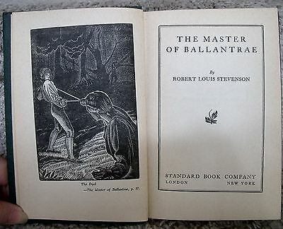 Vintage HC The Master of Ballantrae by Nathaniel Hawthrone Standard Book Co 1930