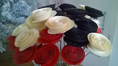 Red black & ivory rose bouquet Paper Flower most popular valentines day gift