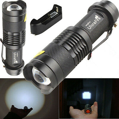 UltraFire 1600LM CREE XM-L T6 LED Zoomable Flashlight Torch Lamp + Charger New